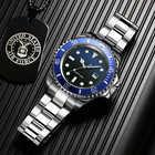 Addies relógio de mergulho 200m 2115 relógios de quartzo men c3 calendário super luminoso relógio de mergulho moda aço inoxidável relógios masculinos - 5