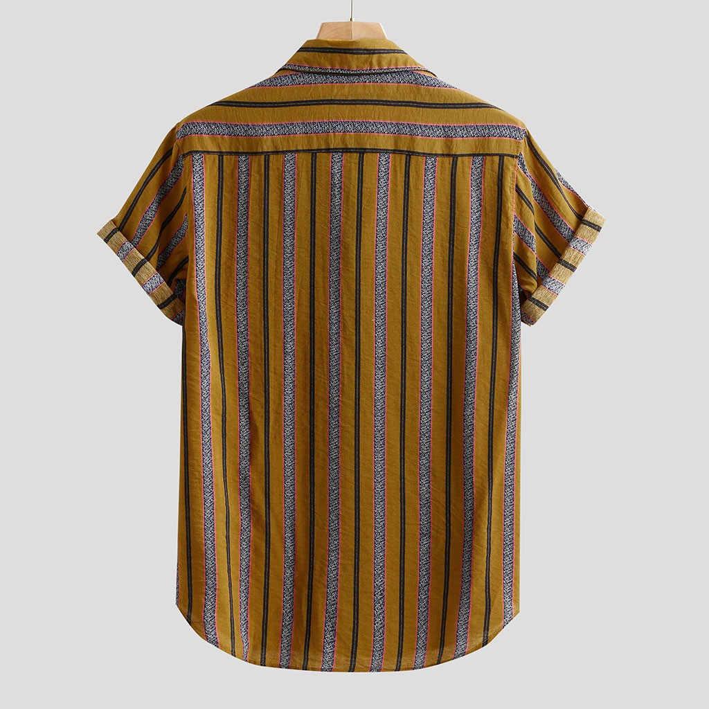 2019 grande taille hommes chemises mode respirant bref comfortable solide couleur à manches courtes lâche décontracté boutons Blouse livraison directe juillet24