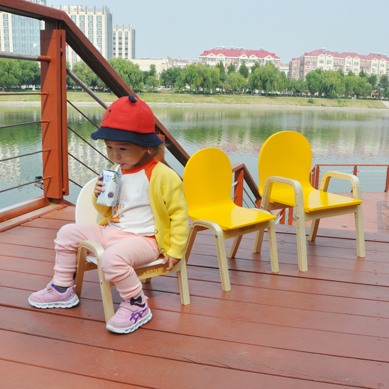 Children's Chair Kindergarten Baby Small Chair Back Chair Child Furniture  Armchair Stool Solid Wooden Bench School Dining Seat