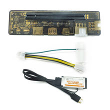 PCI-E EXP GDC Laptop Eksternal Video Card Dock Kartu Grafis Laptop Docking Station (ExpressCard Interface)(China)