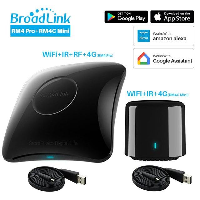 جهاز تحكم عن بعد ذكي عالمي من Broadlink RM4 Pro RM4C Mini 2020 متوافق مع أليكسا جوجل هوم