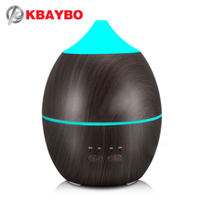 KBAYBO 300ml Humidifier Aroma Diffuser Aromatherapy Wood Grain Essential Oil Diffuser Ultrasonic Cool Mist maker for Office Home home use portable 300ml light wood grain ultrasonic humidification aroma essential oil diffuser chern aromatherapy humidifier