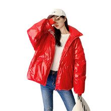 2019 High Quality Women 95% White Duck Down Coats Winter New Short Jackets Outwear