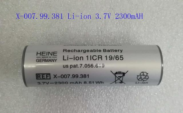 Yüksek kalite yeni tıbbi ekipman pil HEINE X 007.99.381 1ICR 19/65 X 002.99.382 HRM 11/45