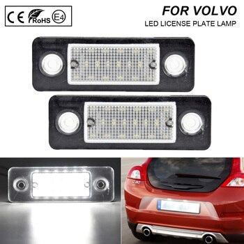 цена на For Volvo C30 08-13 LED License Plate Lights 12V 6000k White Number Plate Lamp 2X