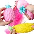 Веселый мягкий ананас, антистрессовый снятие стресса, игрушки для детей, Сжимаемый антистресс, креативный, милый
