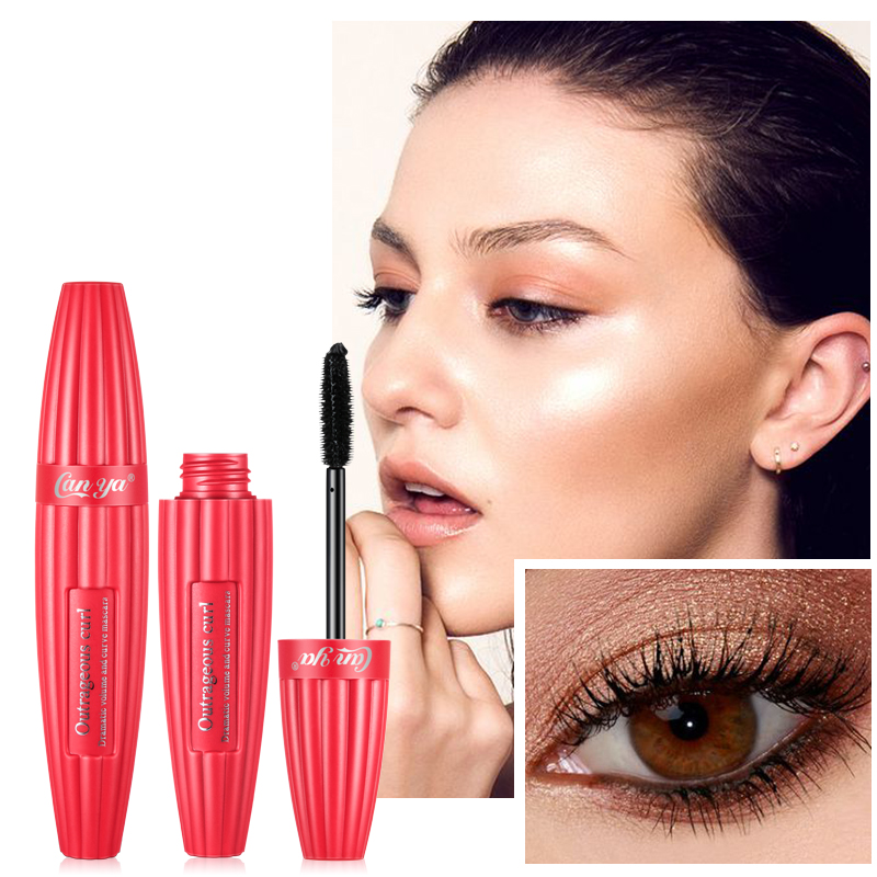 New Fashion Mascara Waterproof Natural Curling Thick Lengthen Long Lasting Sweat Proof Eyes Makeup