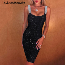 Sheath Dress Glitter Shimmer Party-Club Backless Cocktail-Sukienki Women Sexy Sleeveless