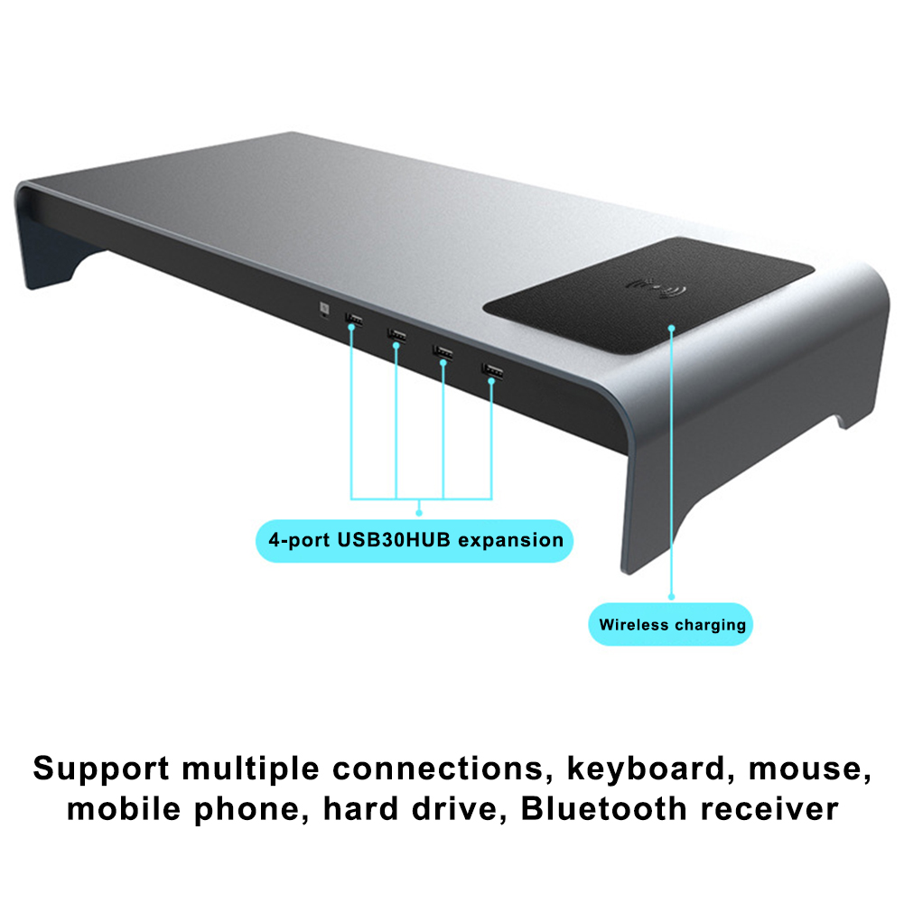 Nova base inteligente liga de alumínio computador portátil base suporte com 4 porta usb 3.0 dom668 - 4