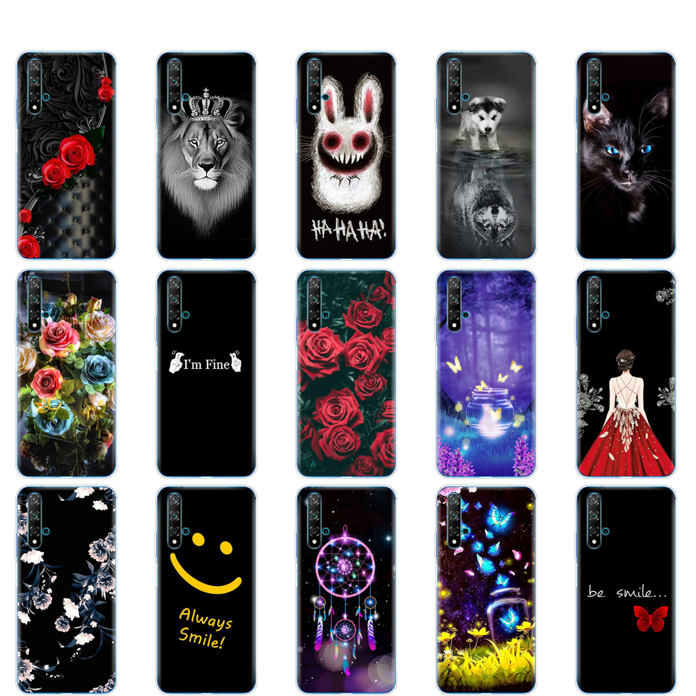 Silicon Phone Cover Case For Huawei Nova 5T Case Soft TPU Back For Nova5T 5 T YAL-L21 6.26'' Fundas Full Protection Coque Bumper