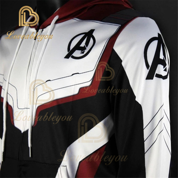 Mens Hoodie Endgame Quantum Realm Cosplay Costume Hoodies Men Hooded Zipper End Game Sweatshirt Jacket
