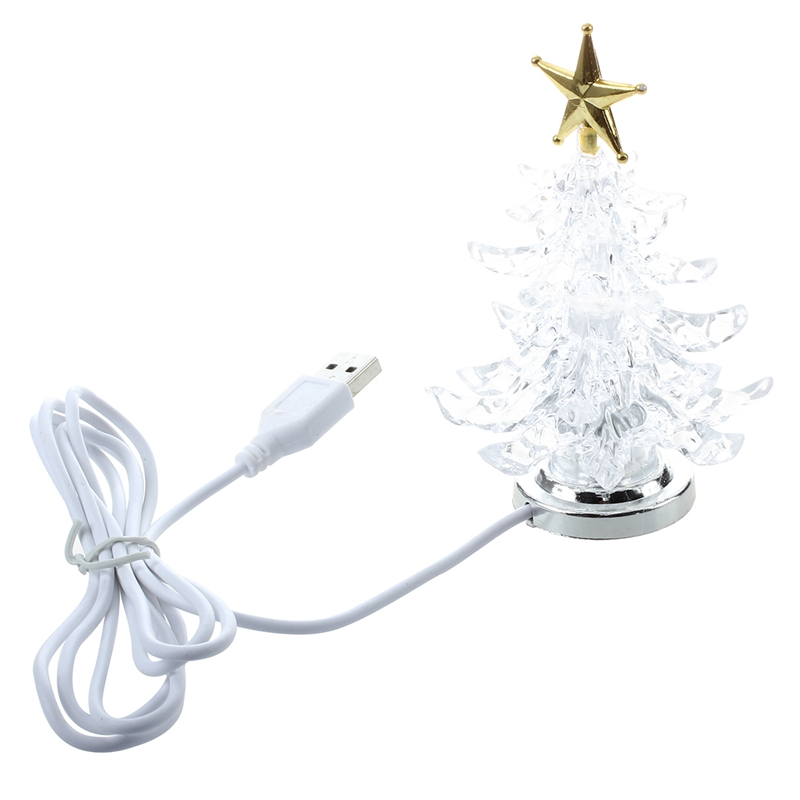 Promotion! USB Powered Miniature Christmas Tree With Multicolor LEDs