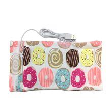 Bottle-Heater Milk Water-Warmer Baby USB Travel Stroller 6-Colors Insulated-Bag Nursing