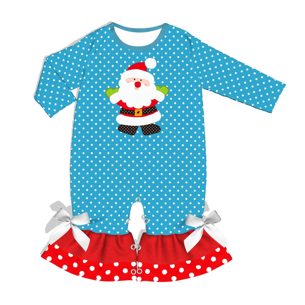 2019 Christmas Holiday Baby Clothes Long Sleeves Girl   Romper   for pre sell GPF907-732-HY