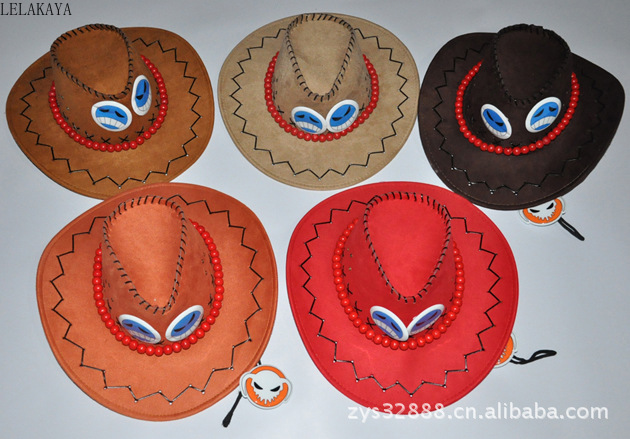 New Halloween Cosplay One Piece Monkey D Luffy Ace Chopper Tonny Cowboy Hat Pirates Men Caps Skull Toys Doll Accessories Costume