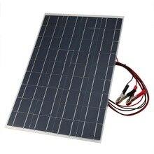 18 в 30 Вт Гибкая Автомобильная батарея Портативное Солнечное Зарядное устройство Солнечная Панель зарядное устройство с зарядкой от аккумулятора крокодил клип линия