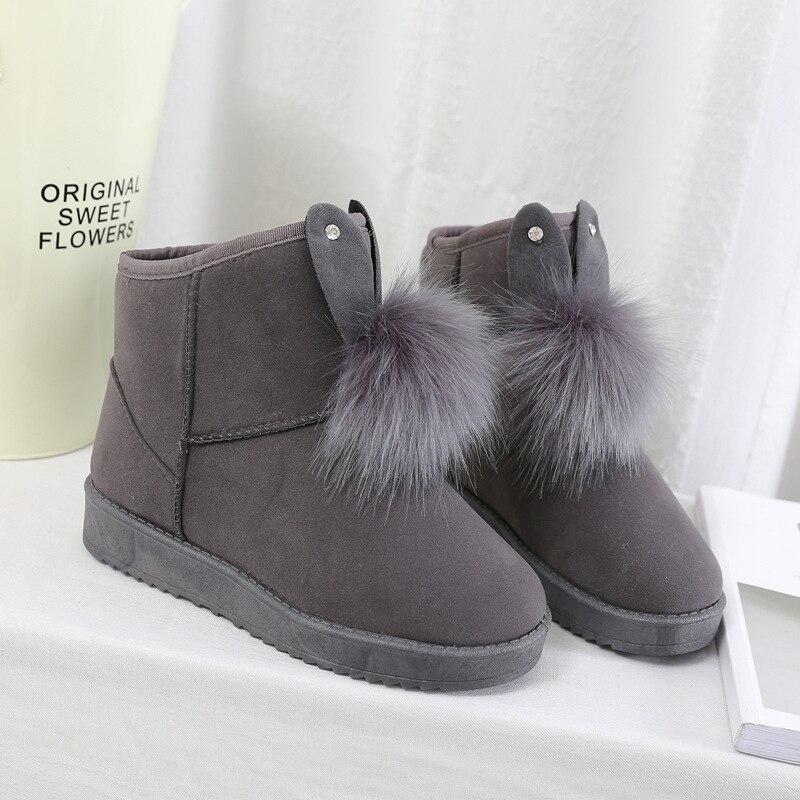Зимние ботинки с плюшевой подкладкой; Теплые зимние ботинки из водонепроницаемого материала на толстой подошве с плюшевой подкладкой; Ботинки на платформе с хлопковым мехом; Женские зимние ботинки|Зимние сапоги|   | АлиЭкспресс