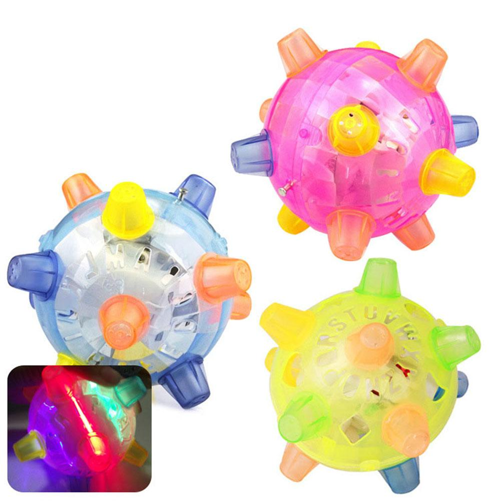 Funny Colorful Flashing LED Light Bouncing Dancing Music Ball Kids Toy Birthday Gift Bring Fun To Your Baby