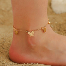 Tobillera Vintage de mariposa para mujer, pulsera para el tobillo, cadena para la pierna, accesorios de joyería, regalos de fiesta y Navidad