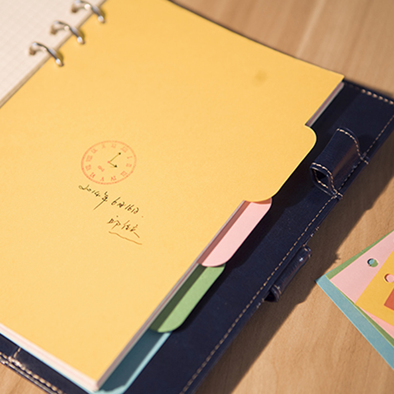 5 шт заправок 6 отверстий пустая красочная бумага для A5 A6 Блокнот L41E