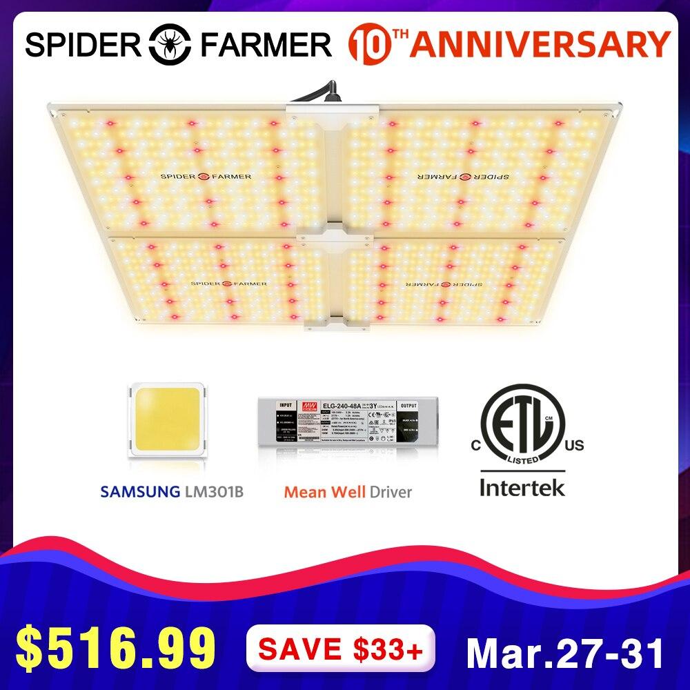 Crescente lâmpadas led cresce a luz 4000 w aranha agricultor espectro completo quantum board para o cultivo de plantas samsung lm301b meanwell