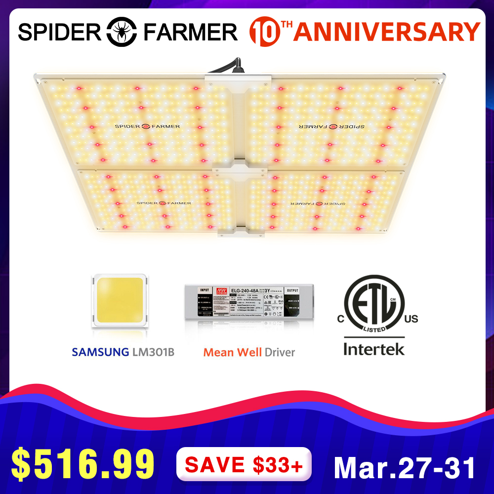 Growing Lamps Led Grow Light 4000W Spider Farmer Full Spectrum Quantum Board For Plants Cultivation Samsung LM301B Meanwell