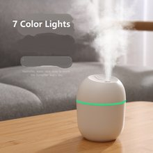 1Pcs 220Ml Mini Ultrasone Luchtbevochtiger Aroma Etherische Olie Diffuser Voor Home Auto Usb Fogger Mist Maker Met led Night Lamp