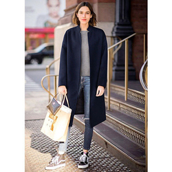 Autumn And Winter New Style Mid-length Thick en Jacket Large Size Dress en Overcoat Fashion D021