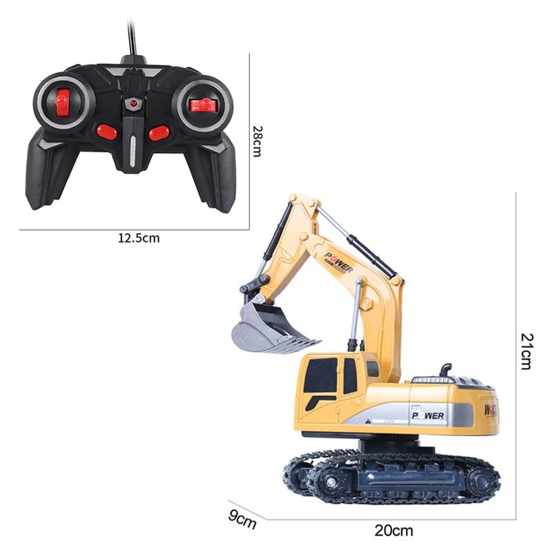 Экскаватор Радиоуправляемый игрушечный, 2,4 ГГц, 6 каналов, 1:24, инженерный автомобиль из сплава и пластика, экскаватор 6-канальный и 5-канальный RTR для детей, рождественский подарок 5
