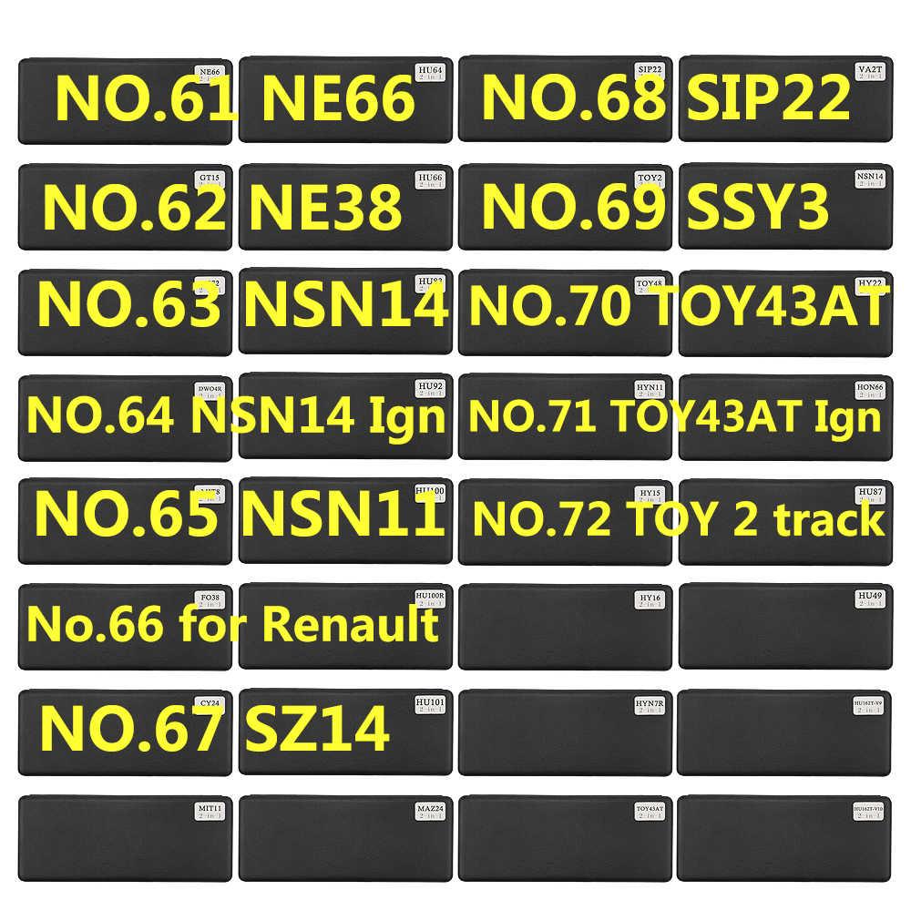 61-72 לישי 2 ב 1 כלי NE66 NE38 NSN14 Ign NSN11 SZ14 SIP22 SSY3 TOY43AT צעצוע 2 מסלול עבור רנו V.2 מסגר כלי