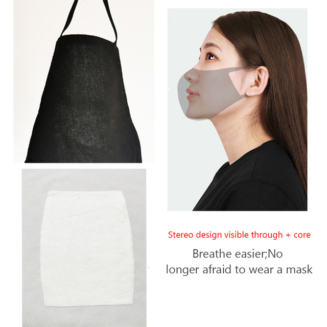 Nano-polyurethane Black Mouth Mask Anti Dust Mask Activated Carbon Windproof Mouth-muffle Bacteria Proof Flu Face Masks 2