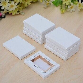 24Pcs Mini ยืดเยื้อศิลปินศิลปะขนาดเล็ก Board/น้ำมันสี 10X10 ซม.) Mini สีขาว