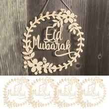 5 Pçs/set Feliz Eid Mubarak Pingente Decoração Garland Pingente Mubarak Feliz Ajuda Islâmico Muçulmano Decoração Do Partido Decoração Do Partido