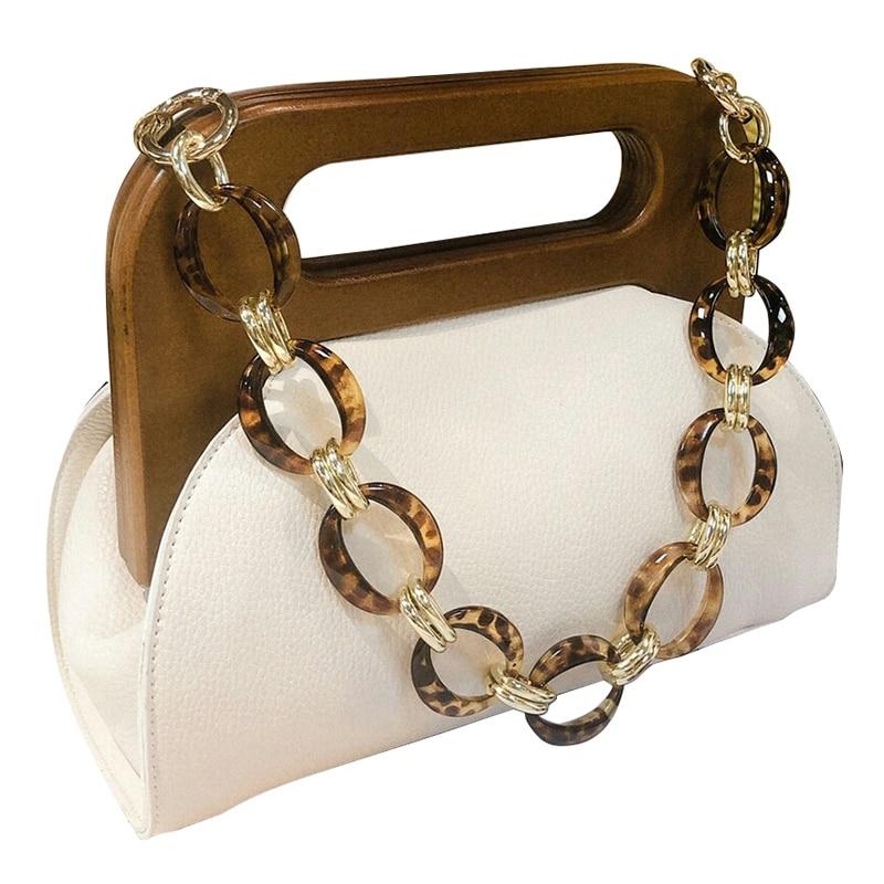 Mulheres de luxo bolsa de madeira lidar