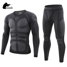 Winter Men's Sport Thermal Underwear Suit Fleece Warm Breath