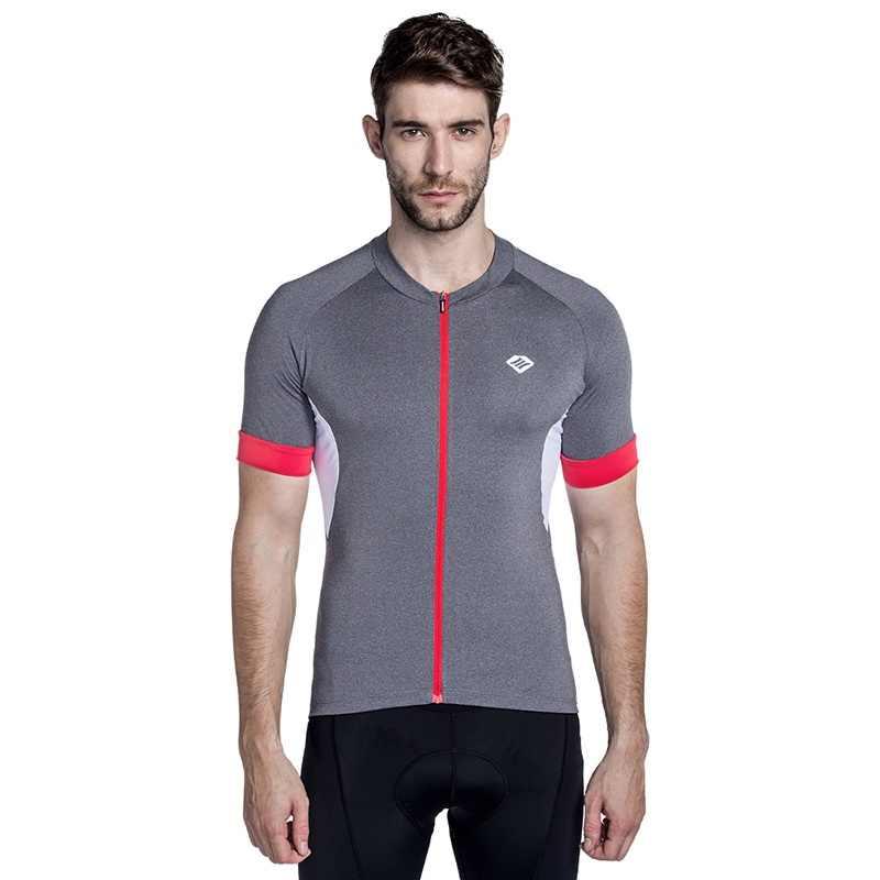 산티크 남자 사이클링 저지 짧은 프로 맞는 N-FEEL 하이테크 패브릭 도로 자전거 MTB 짧은 소매 탑 라이딩 셔츠 미국 크기 KJ6301