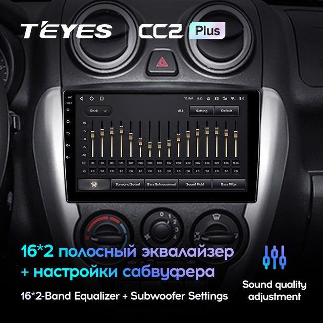 TEYES CC2L и CC2 Plus Штатная магнитола For Лада ВАЗ Гранта Спорт For LADA Granta Sport 2011 - 2018 Android до 6 + 128ГБ 16*2EQ + DSP 2DIN автомагнитола 2 DIN DVD GPS мультимедиа автомобиля головное устройство 4