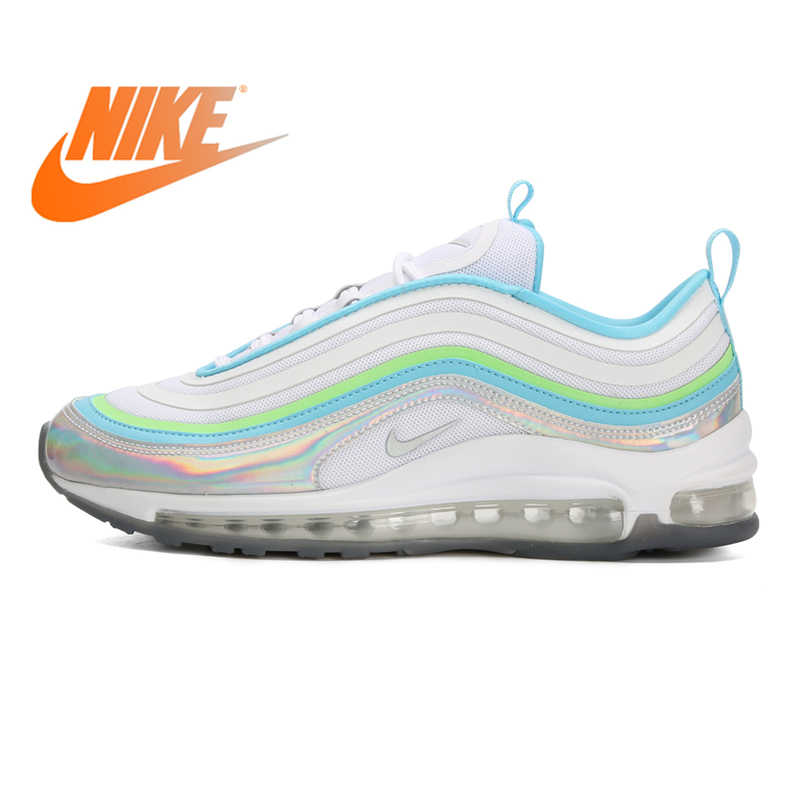 Original Authentic Nike Air Max 1 Pompidou Women's Running Shoes Classic Outdoor Sports Shoes Comfortable Breathable AV3735 002