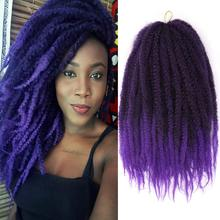 Black Star Marley Twist Crochet Braids 18 Inch Afro Kinky Twist Crochet