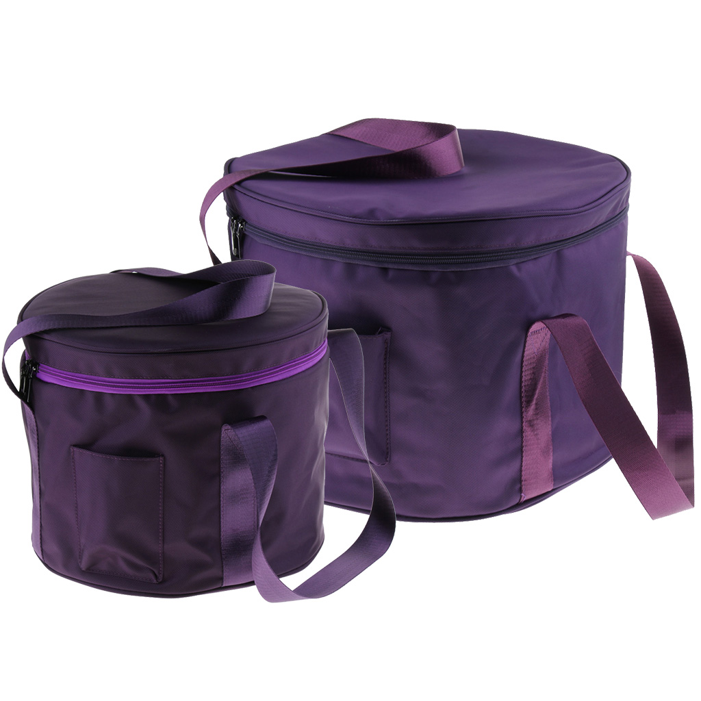 11/14 Inch Carry Case Thicken Bag Cotton For Crystal Singing Bowl, Purple