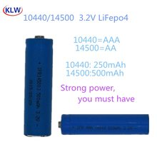 AA AAA Rechargeable 3.2V LiFePo4 10440 14500 Batteries with 2 Slot Smart Charger Intelligent Charger Batteries for Cameras
