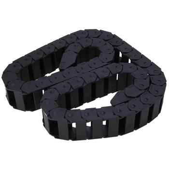 Wzmocnienie nylonowy przewód transmisyjny przenośnik łańcuchowy 15X30mm czarny przenośnik łańcuchowy Towline nośnik drutu grawerowanie akcesoria do maszyn tanie i dobre opinie Mayitr NONE CN (pochodzenie) Rolkowe Z tworzywa sztucznego Cable Drag Chain Standardowy