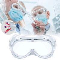 Óculos de segurança descartáveis com proteção contra poeira  óculos de pvc de trabalho para proteção dos olhos em pvc laboratório