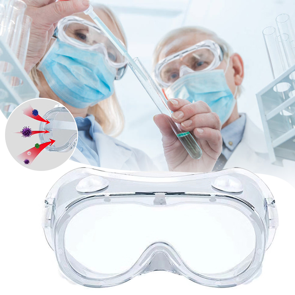 Safety Goggles Eyewear Glasses Disposable Anti-Fog Splash Goggles With PET Waterproof Anti -dust Eye Protection PVC Work Lab