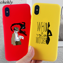 Happy Halloween Phone Case for iPhone X XR XS Max 8 7 6 S Plus Witch Cases Soft Silicone Fitted Mobile Accessories Covers