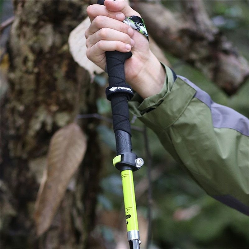 2 pçs ultraleve fibra de carbono trekking