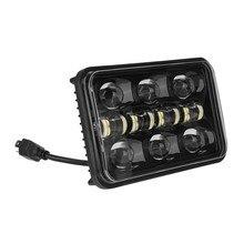 4x6 polegada 150w led farol feixe com drl para jeep wrangler