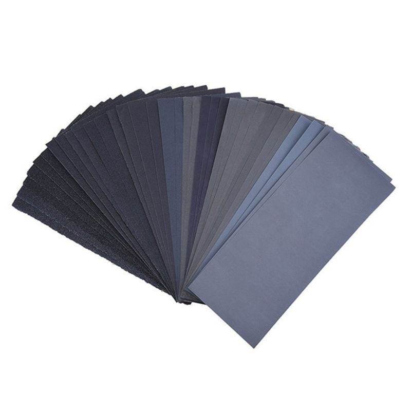 Wet Dry Sandpaper Assorted, 32 Pcs Abrasive Paper Sheets Assortment