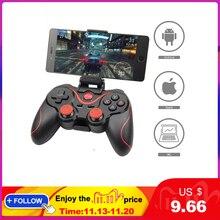 Toptan Terios T3 X3 kablosuz oyun kolu Gamepad oyun denetleyicisi bluetooth BT3.0 Joystick cep tablet telefon TV kutu tutucu