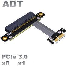 Pci-e x8 transferência de cabo de extensão x1 pcie 1x a 8x suporte placa de rede ssd expansão conversor adaptador de cabo de pixel gtx 1080 ti